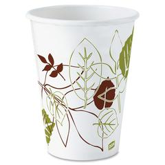 Dixie Pathways Design Hot Cups - 12 fl oz - 500 / Carton - White - Paper - Hot Drink