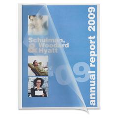 "Business Source Slide-bind Transparent Report Cover - 1/8"" Folder Capacity - 8 1/8"" x 11"" Sheet Size - Polypropylene - White - 50 / Box"