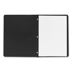 "Business Source Traditional Panel/Border Report Cover - Letter - 8.50"" x 11"" Sheet Size - 100 Sheet Capacity - 3 x Prong Fastener(s) - Card Stock - Black - Recycled - 25 / Box"