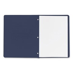 "Business Source Traditional Panel/Border Report Cover - Letter - 8.50"" x 11"" Sheet Size - 100 Sheet Capacity - 3 x Prong Fastener(s) - Card Stock - Dark Blue - Recycled - 25 / Box"