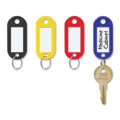 """Steelmaster Label-Window Key Tags - 2"""" x 0.9"""" x 0.2"""" - Plastic, Metal - 20 / Pack - Assorted"""