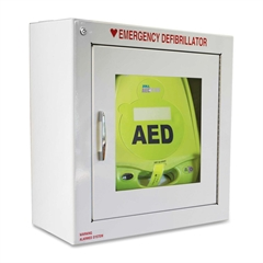 ZOLL AED Plus Standard Size Cabinet with Audible Alarm - White - Metal