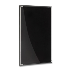 """Iceberg Enclosed Tack Board - 36"""" Height x 24"""" Width - Charcoal Surface - Polyethylene Frame - 1 Each"""