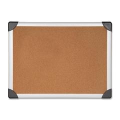 """Lorell Cork Board - 18"""" Height x 24"""" Width - Cork Surface - Aluminum Frame - 1 Each"""