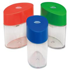 Integra Oval Pencil Sharpener - Handheld - 1 Hole(s) - Plastic - Assorted