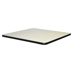 """Lorell Hospitality Breakroom Table Top - Square Top - 36"""" Table Top Length x 36"""" Table Top Width x 1.25"""" Table Top Thickness - Assembly Required - Light Gray Top - Laminated Top - Vinyl, Particleboard"""