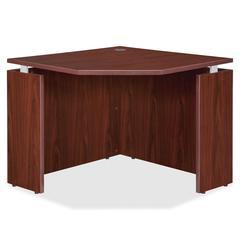 "Lorell Ascent Corner Desk - 35.4"" x 35.4"" x 29.5"" - Finish: Laminate, Mahogany"