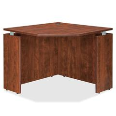 "Lorell Ascent Corner Desk - 35.4"" x 35.4"" x 29.5"" - Finish: Cherry, Laminate"