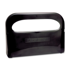 RMC Toilet Cover Dispenser - Half-fold - 2 x Toilet Seat Cover Half-fold - Plastic - Smoke Gray