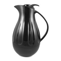 Genuine Joe Double Wall Carafe - 1.4 quart (1.3 L) - Glass-lined - Black