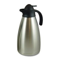 Genuine Joe Contemporary Vacuum Carafe - 2.1 quart (2 L) - Vacuum - Stainless Steel