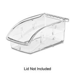 """InSight 305A3 Ultra Clear Supply Bin - Internal Dimensions: 6.25"""" Length x 3.13"""" Width x 2.63"""" Height - External Dimensions: 7.4"""" Length x 4.1"""" Width x 3.3"""" Height - 10 lb - Stackable - Poly"""