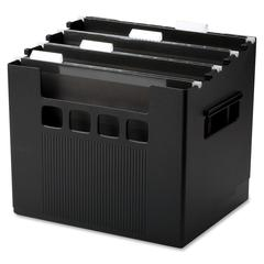 "Pendaflex SuperDecoFlex Desktop Files - External Dimensions: 12.8"" Width x 10"" Depth x 11""Height - Media Size Supported: Letter - Plastic - Black - For Hanging Folder - 1 Each"
