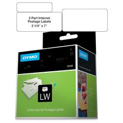 "Dymo 3-part Return Address PC Postage Labels - 2.25"" Width x 7"" Length - 150 / Roll - Direct Thermal - White - 150 / Roll"