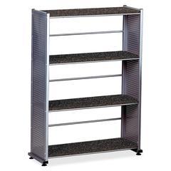 """Mayline Eastwinds 994 Storage Shelf - 32.5"""" x 12"""" x 44.5"""" - Steel - 4 x Shelf(ves) - Anthracite"""