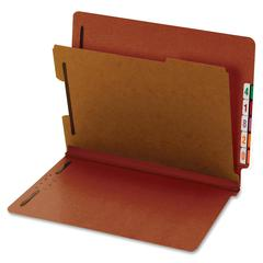 "Globe-Weis Standard Color End Tab Classification Folder - Letter - 8.50"" x 11"" Sheet Size - 1.75"" Expansion - 4 Fastener(s) - 2"" Fastener Capacity for Folder, 1"" Fastener Capacity for Divider - 1 Divi"