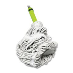 Miller's Creek Cotton Twist Mop - Sponge Head - Looped Ends, Ergonomic Handle, Lightweight - 1 Each - Blue