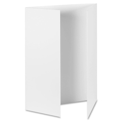 "Pacon Value Foam Presentation Boards - 48"" Height x 36"" Width - White Foam Surface - 12 / Carton"