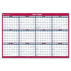 "At-A-Glance Laminated/Erasable Wall Calendar - Julian - Monthly - 1 Year - January 2017 till December 2017 - 48"" x 32"" - Wall Mountable - White - Erasable, Reversible, Laminated, Write on/Wipe off"