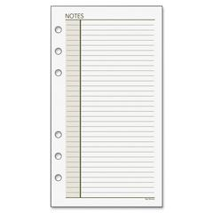 "Day Runner Undated Planner Refill - 30 Sheets - Printed - 3.75"" x 6.75"" - White/Cream Paper - Recycled - 1Each"