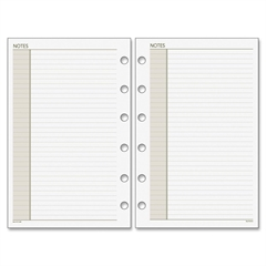 "Day Runner Planner Notes Pages - 30 Sheets - Printed - 6-ring - 3.75"" x 6.75"" - White Paper - Recycled - 1 / Each"