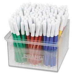 Prang Fineline Art Markers - Fine Point Type - Red, Blue, Green, Yellow, Orange, Brown, Black, Purple, Gray, Pink, Light Blue, ... - 144 / Set