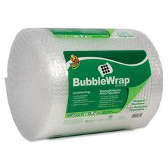 "Duck Cushion Wrap - 12"" Width x 60 ft Length - 187.5 mil Thickness - Reusable, Lightweight, Water Resistant, Perforated - Nylon - Clear"
