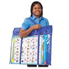"Carson-Dellosa Deluxe Bulletin Board Storage Bag - 0.38"" Height x 12"" Width x 27"" Length - Multicolor - Vinyl - 1 Each"