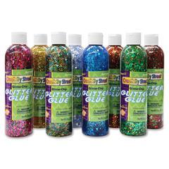 ChenilleKraft Glitter Chip Glue - 8 / Box - Assorted