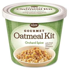 Njoy Orchad Spice Oatmeal - Resealable Lid, Individually Wrapped - Orchad Spice - Cup - 1 Serving Cup - 2.55 oz - 8 / Carton