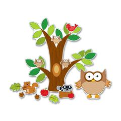 "Carson-Dellosa Bulletin Board Set - Owl - 0.05"" Height x 20"" Width x 29.50"" Length - Multicolor - 1 / Pack"