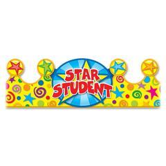 Carson-Dellosa Star Student Crowns - Star Student - 30/Pack - Multicolor
