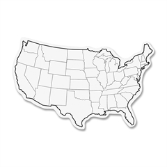 "ChenilleKraft 2-Sided USA Map Whiteboard - 12"" (1 ft) Width x 8"" (0.7 ft) Height - White Surface - Rectangle - 10 / Pack"