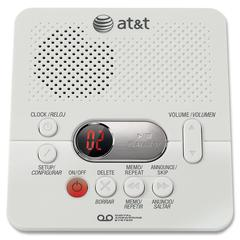 Digital Answering System w/60 Min Record Time - 1 Hour Digital - White