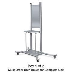 "Balt Wall Mount Mobile Stand - 1 x Shelf(ves) - 74"" Height x 58"" Width x 30.3"" Depth - Steel - Platinum"