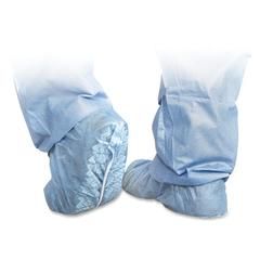 Medline Polypropylene Non-Skid Shoe Covers - Extra Large Size - Polypropylene - Blue - 100 / Box