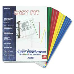 "Easy Fit Semi-clear Sheet Protectors - 20 x Sheet Capacity - For Letter 8.50"" x 11"" Sheet - 3 x Holes - 3 x Rings - Ring Binder - Clear - Polypropylene - 25 / Box"