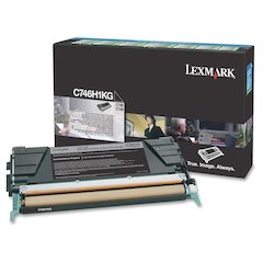 Lexmark C746, C748 Black High Yield Return Program Toner Cartridge - Laser - High Yield - 12000 Page - 1 Each