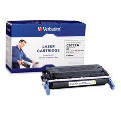 Verbatim Remanufactured Laser Toner Cartridge alternative for HP C9722A Yellow - Yellow - Laser - 8000 Page - 1 Each