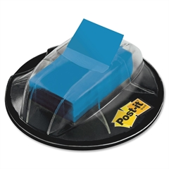 "Post-it Flags in Desk Grip Dispenser, Blue, 1 in. Wide - 200 - 1"" x 1.75"" - Rectangle - Unruled - Blue - Removable, Self-adhesive - 200 / Dispenser"