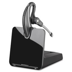 Plantronics CS530 DECT Headset System - Mono - Black - Wireless - DECT - 350 ft - Over-the-ear - Monaural - Outer-ear - Noise Cancelling Microphone