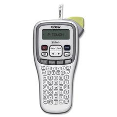 """Brother PT-H100 Easy, Handheld Label Maker - Thermal Transfer - 0.79 in/s Mono - 180 dpi - Tape, Label - 0.14"""", 0.24"""", 0.35"""", 0.47"""" - LCD Screen - Battery - 6 Batteries Supported - AAA - Beige, Gray -"""