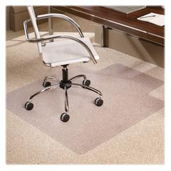 "ES Robbins Multi-Task AnchorBar Carpet Chair Mat - Carpeted Floor - 48"" Length x 36"" Width x 0.38"" Thickness - Lip Size 10"" Length x 20"" Width - Vinyl - Clear"
