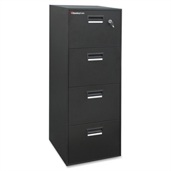 "Fire-Safe File-4B2100 - 18.3"" x 21"" x 55.5"" - 4 x Drawer(s) - Legal, Letter - Water Resistant, Hazard Resistant, Fire Resistant, Key Lock, Recessed Handle, Label Holder - Black"