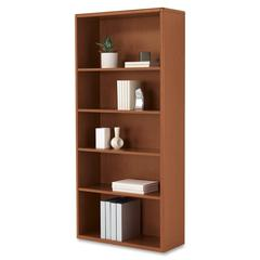 "HON 10700 Srs Mahogany Laminate 5-shelf Bookcase - 5 Compartment(s) - 71"" Height x 32.4"" Width x 13.1"" Depth - Recycled - Henna Cherry - Wood - 1Each"