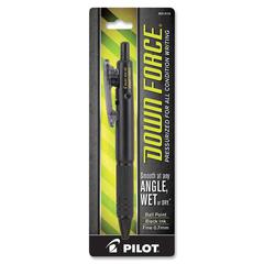 Down Force BallPoint Pen - Fine Point Type - 0.7 mm Point Size - Point Point Style - Refillable - Black - Black Barrel - 1 Each