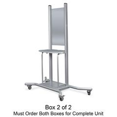 iTeach Presentation Stand - 1 x Shelf(ves) - Platinum
