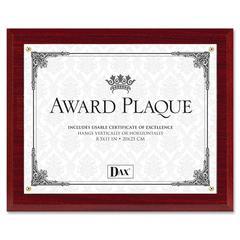 """DAX Mahogany Award Plaque - 10.50"""" x 13"""" Frame Size - Holds 8.50"""" x 11"""" Insert - Hanger - Mahogany"""