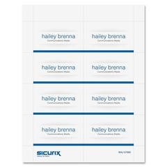 "SICURIX Name Badge Kit Insert - 3.5"" x 2.25"" - 56 / Pack - 2.3"" Width x 3.5"" Height - Micro Perforated - White"