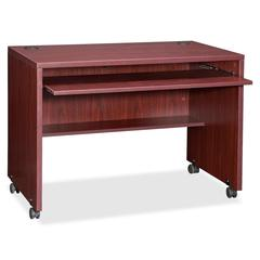 "Lorell Essentials Computer Workstation - 29.50"" Height x 41.38"" Width x 23.63"" Depth - Assembly Required - Mahogany"